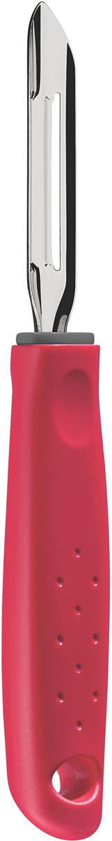 Фрукто-овощечистка Tramontina Utilita, цвет: красный25627/170-TRСерия кухонных аксессуаров Utilita подходит для любителей современного дизайна и ярких красочных цветов.Рабочая часть изготовлена из нержавеющая стали AISI 420, благодаря уникальному методу закалки в несколько этапов (термическая закалка, охлаждение, промораживание, нагревание газом) сталь приобретает особую пластичность, корозийно и жаростойкость, сохраняя твердость порядка 53 единиц по шкале Роквелла.Благодаря толстой стали и надёжному креплению к рукоятке нож прослужит долгие годы.Материал лезвия: нержавеющая сталь AISI 420Материал рукоятки: полипропиленПетля для подвешивания: даМожно мыть в посудомоечной машине: даСтрана производства: Бразилия