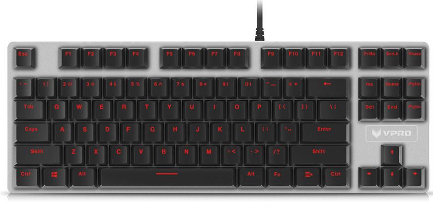 Rapoo V500S Alloy, Black игровая клавиатура rapoo