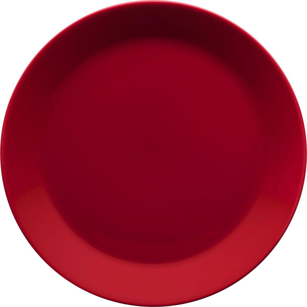 Тарелка Iittala Teema, цвет: красный, диаметр 21 см1006009Teema - это классика дизайна Iittala, каждый продукт имеет чёткие геометрические формы: круг, квадрат и прямоугольник. Как говорит Кай Франк: «Цвет является единственным украшением». Посуда серии Teema является универсальной, её можно комбинировать с любой серией Iittala. Она практична и лаконична.