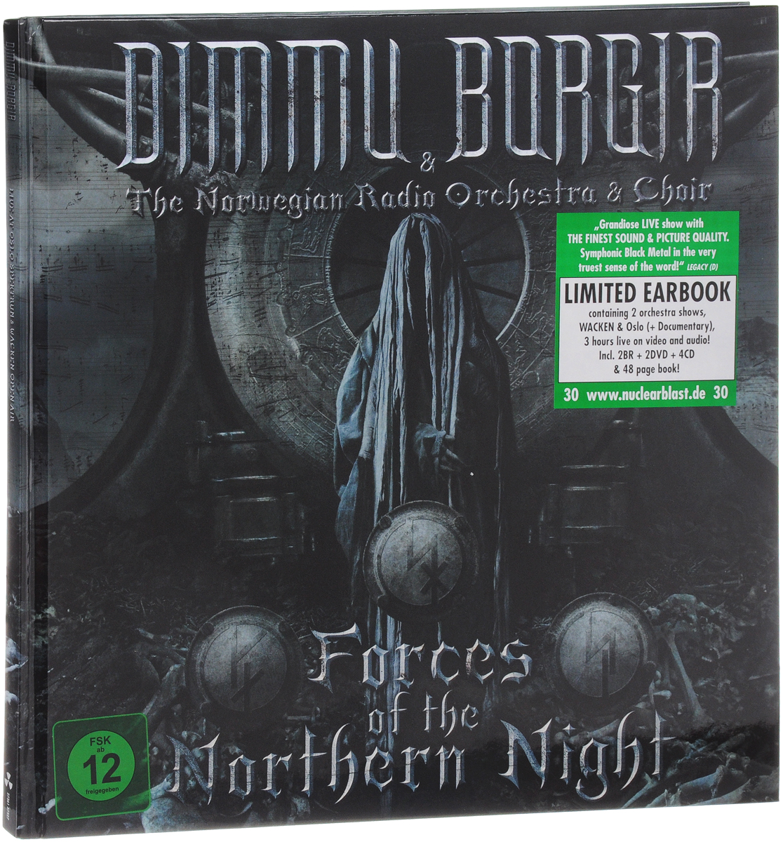 Dimmu Borgir & The Norwegian Radio Orchestra & Choir: Forces Of The Northern Night: Limited Earbook (2 Blu-ray + 2 DVD + 4 CD) dimmu borgir dimmu borgir in sorte diaboli deluxe edition cd dvd