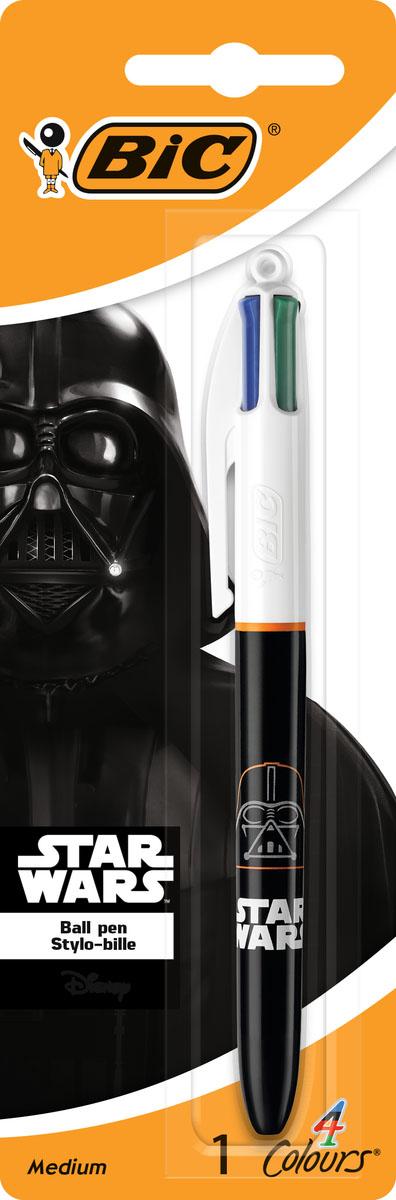 Bic Ручка шариковая 4 в 1 Star Wars Дарт Вейдер bic kids ручка шариковая bp clic girl blu синяя