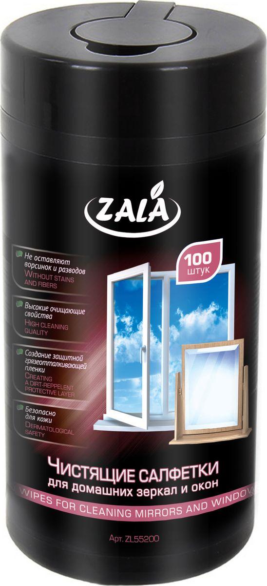 Чистящие салфетки для домашних зеркал и оконZala, 100 штZL55200Влажные салфетки ZALA предназначены для очистки зеркал и окон в домашних условиях. Их особенности: Создают защитную грязеотталкивающую пленку. Не оставляют ворсинок и разводов. Обладают высокими очищающими свойствами. Безопасны для кожи. Состав: салфетка из нетканого материала или крепированной бумаги, вода, менее 5 %: эфиры гликолей, смесь НПАВ и КПАВ, отдушка. Как выбрать качественную бытовую химию, безопасную для природы и людей. Статья OZON Гид
