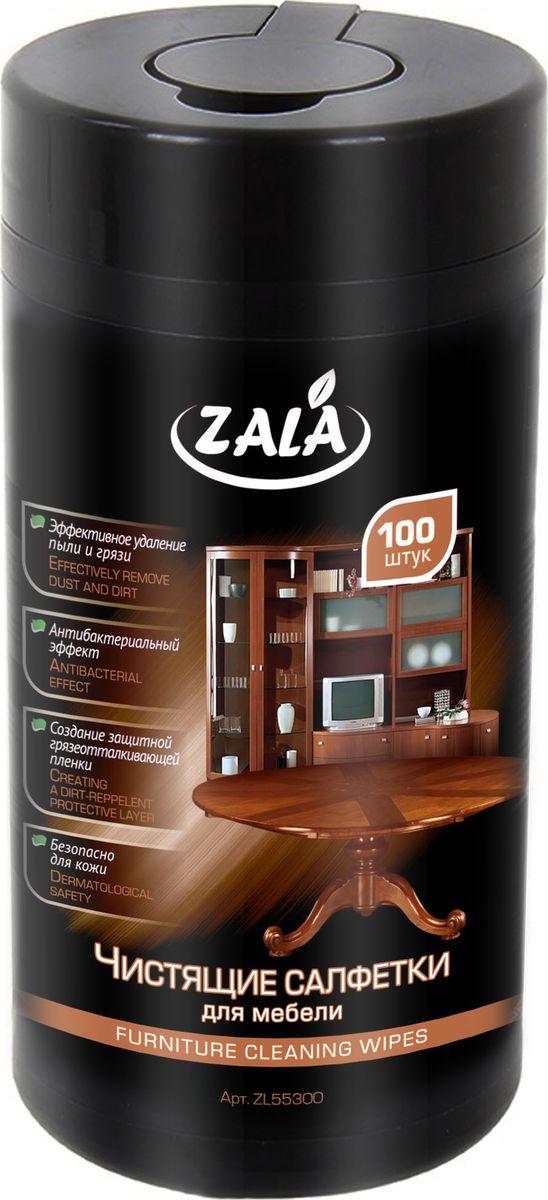 Чистящие салфетки для мебелиZala, 100 штZL55300Влажные салфетки ZALA предназначены для очистки пластиковых, деревянных и других видов поверхностей в домашних условиях. Их особенности: Создают защитную грязеотталкивающую пленку. Хорошо удаляют пыль и грязь. Обладают антибактериальным эффектом. Безопасны для кожи. Состав: салфетка из нетканого материала или крепированной бумаги, вода, менее 5%: спирт изопропиловый, эфиры гликолей, смесь НПАВ и КПАВ, отдушка. Как выбрать качественную бытовую химию, безопасную для природы и людей. Статья OZON Гид