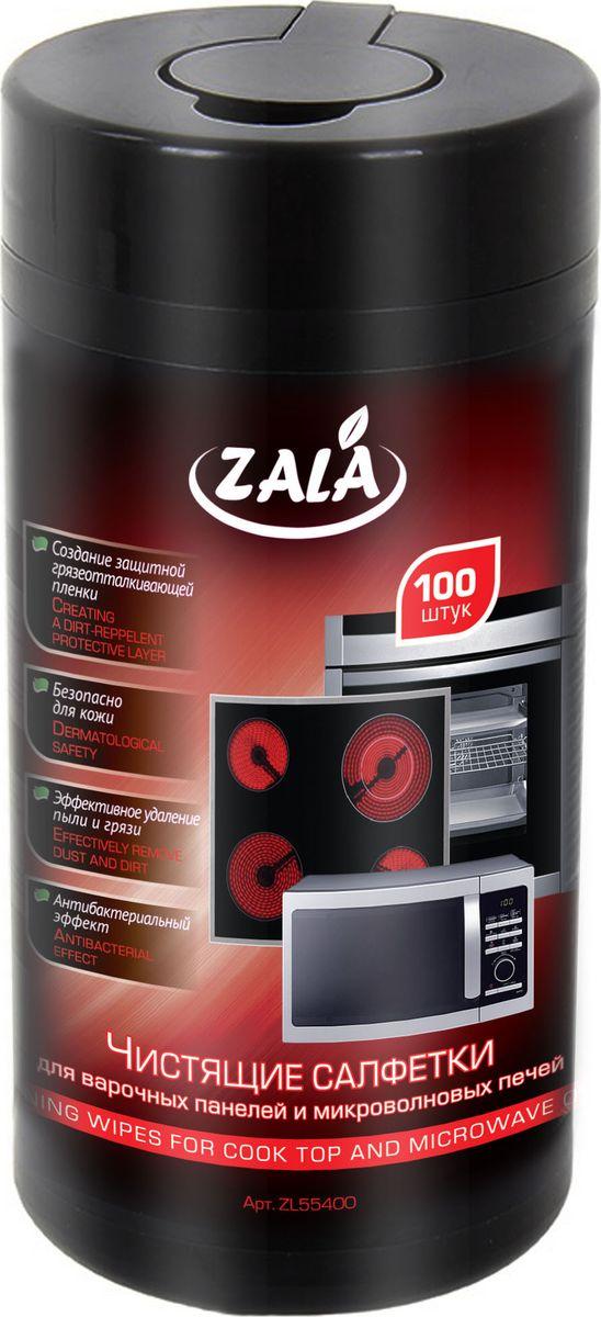 Чистящие салфетки для варочных панелей и микроволновых печейZala, 100 штZL55400Влажные салфетки ZALA предназначены для очистки варочных панелей и микроволновых печей. Их особенности: Создают защитную грязеотталкивающую пленку. Обладают антибактериальным эффектом. Хорошо удаляют пыль и грязь. Безопасны для кожи.Состав: салфетка из нетканого материала или крепированной бумаги, вода, менее 5%: спирт изопропиловый, эфиры гликолей, смесь НПАВ и КПАВ, отдушка. Как выбрать качественную бытовую химию, безопасную для природы и людей. Статья OZON Гид