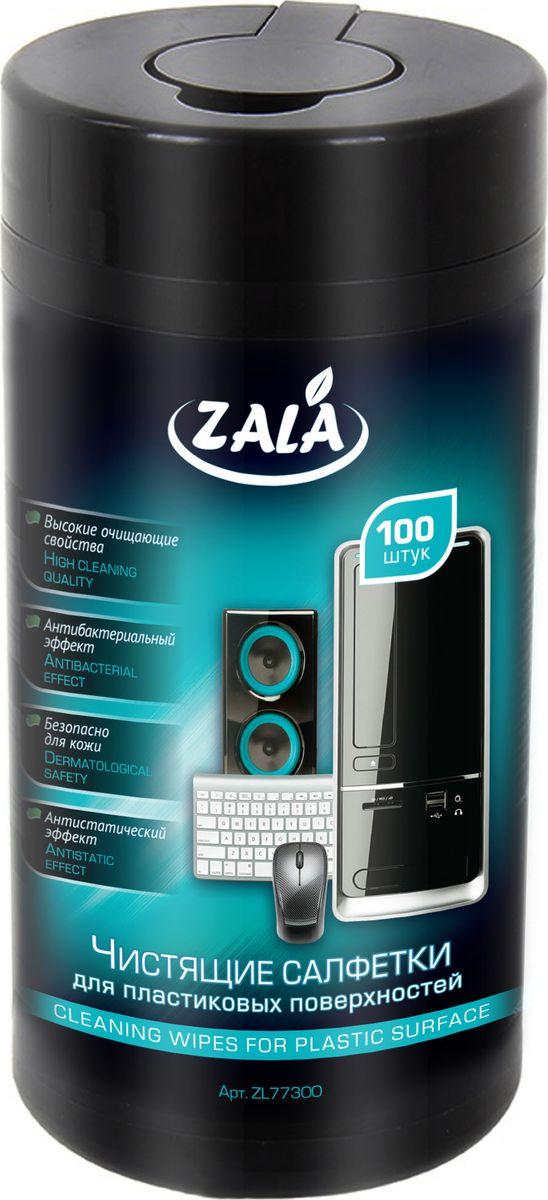Чистящие салфетки для пластиковой поверхностиZala, 100 штZL77300Влажные салфетки ZALA предназначены для очистки пластиковых, ламинированных поверхностей компьютеров, аудио-, видео- и бытовой техники, мебели. Особенности: Высокие очищающие свойства. Антибактериальный эффект. Безопасно для кожи. Антистатический эффект. Состав: салфетка из нетканого материала или крепированной бумаги, вода, менее 5 %: спирт изопропиловый, эфиры гликолей, смесь НПАВ и КПАВ, отдушка. Как выбрать качественную бытовую химию, безопасную для природы и людей. Статья OZON Гид