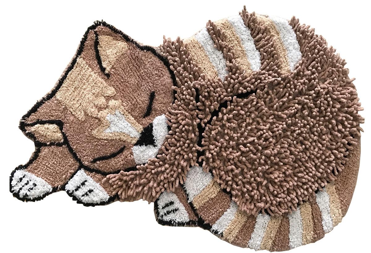 Коврик прикроватный Arloni Киска, цвет: коричневый, 50 x 70 см. 1209.131209.13