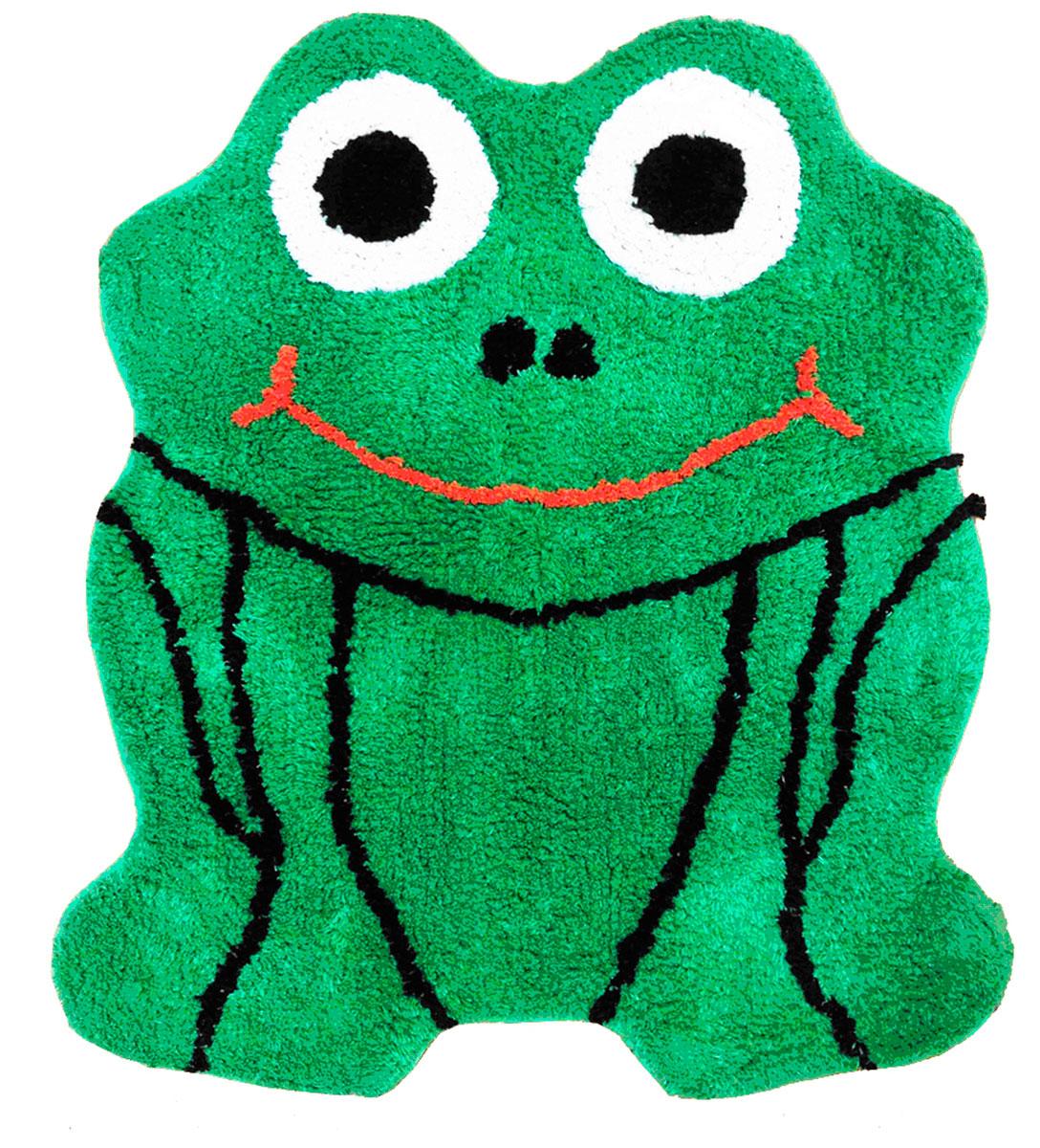 """Коврик """"Arloni"""" имеет оригинальный дизайн в виде лягушки. Он необычайно  мягкий и очень приятный на ощупь. Коврик имеет ворс двух видов - длинный и короткий.  Благодаря своему составу из 100% хлопка, он обладает гипоаллергенными  свойствами, экологичен и очень удобен в использовании и в уходе.  Коврик  долго прослужит в  вашем доме, добавляя тепло и уют, а также внесет неповторимый колорит в  интерьер любой комнаты."""