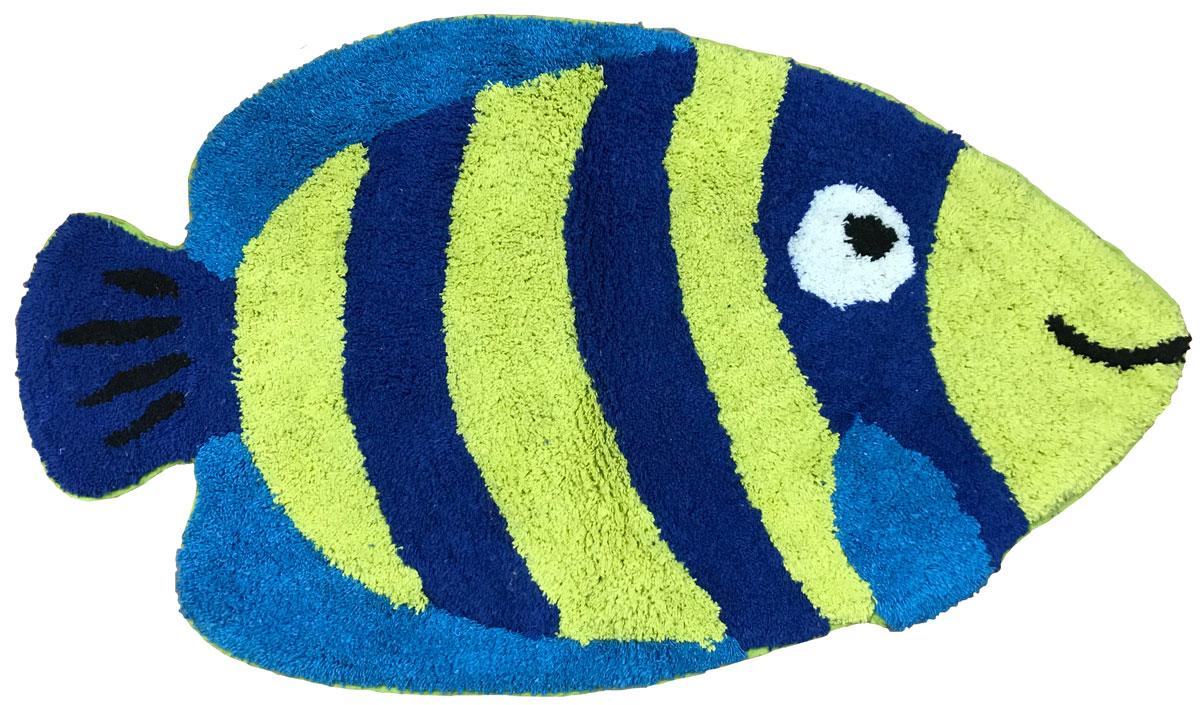 Коврик прикроватный Arloni Рыбка Блю, цвет: синий, 50 x 80 см. 1209.51209.5