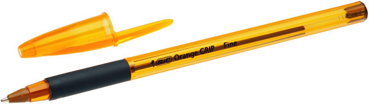 Bic Ручка шариковая Orange Grip чернаяB811925Одноразовая шариковая ручка BIC Orange Grip пишет в 2 раза дольше, чем другие шариковые ручки. Корпус - полупрозрачный пластик оранжевого цвета. Мягкий резиновый грип для комфортного письма. Вентилируемый колпачок.Тонкая линия письма - 0,30 мм.