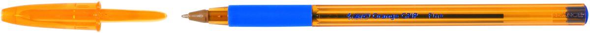 Bic Ручка шариковая Orange Grip синяяB811926Одноразовая шариковая ручка BIC Orange Grip пишет в 2 раза дольше, чем другие шариковые ручки. Корпус - полупрозрачный пластик оранжевого цвета. Мягкий резиновый грип для комфортного письма. Вентилируемый колпачок.Тонкая линия письма - 0,30 мм.