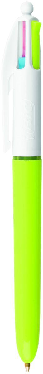 Bic Ручка шариковая Colours Fun 4 цветаB887777Автоматическая шариковая ручка BIC 4 Colors Fun с несколькими стержнями разных цветов идеально подойдет для школьников и студентов. Удобно в случаях, когда необходимо под рукой иметь несколько ручек разного цвета. Корпус - пластик зеленого цвета. Диаметр пишущего узла 1 мм, красивые тонкие линии толщиной 0,4 мм. Цвета - Розовый, Фиолетовый, Голубой, Зеленый.