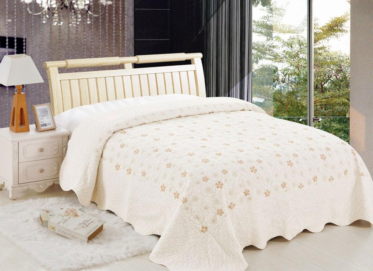 Комплект для спальни Arloni Lux Cotton: покрывало 240 х 240 см, 2 наволочкиЛк-24Н