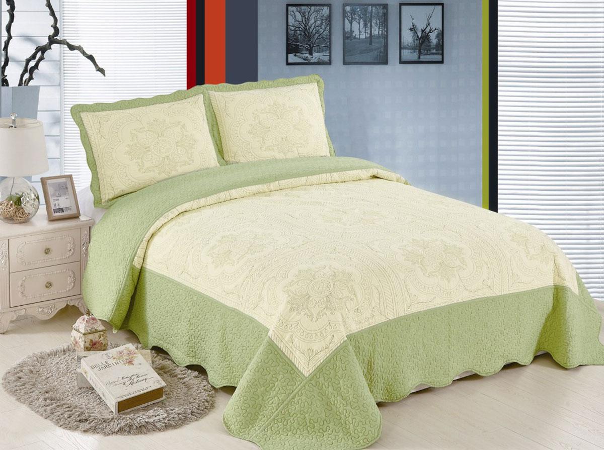 Комплект для спальни Arloni Lux Cotton: покрывало 240 х 240 см, 2 наволочкиЛк-24Н-2