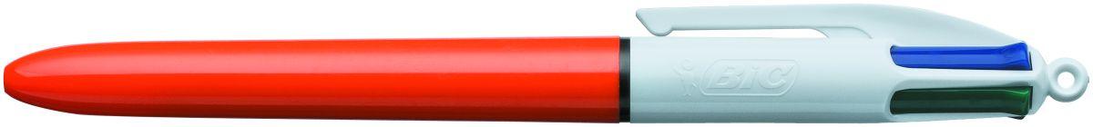 Bic Ручка шариковая Colours Fine 4 цветаB889971Автоматическая шариковая ручка BIC 4 Colors Fine с несколькими стержнями разных цветов идеально подойдет для школьников и студентов. Удобно в случаях, когда необходимо под рукой иметь несколько ручек разного цвета. Корпус - пластик красного цвета. Диаметр пишущего узла 0,8 мм позволяет рисовать красивые тонкие линии толщиной 0,36 мм.