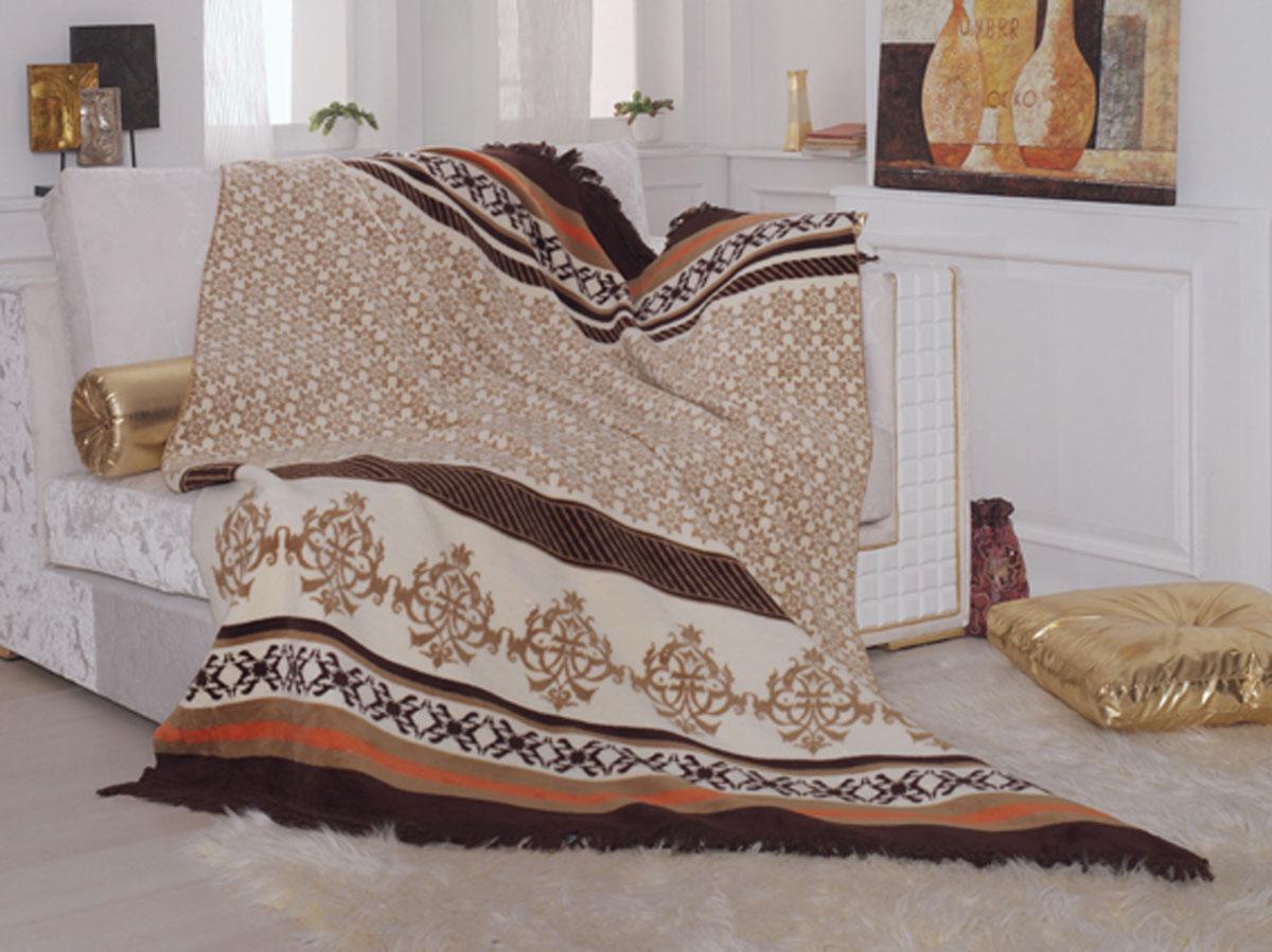 Плед-покрывало станет интересным акцентом в интерьере. Такой плед-покрывало красиво и уютно подчеркнет кровать, диван или кресло. Состав: 60% хлопок, 40% акрил.