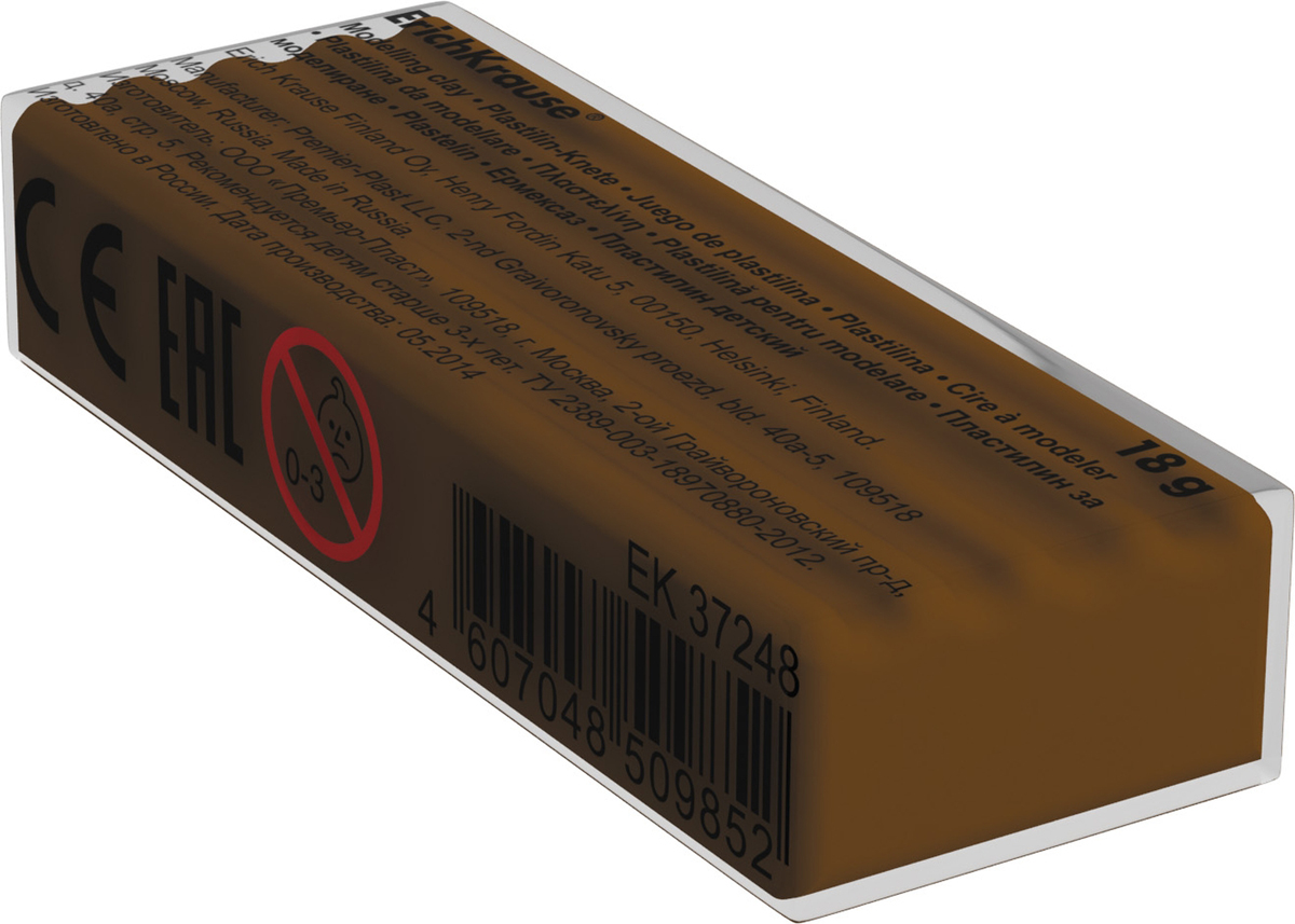 Erich Krause Пластилин цвет темно-коричневый анна игнатова вектор пластилина