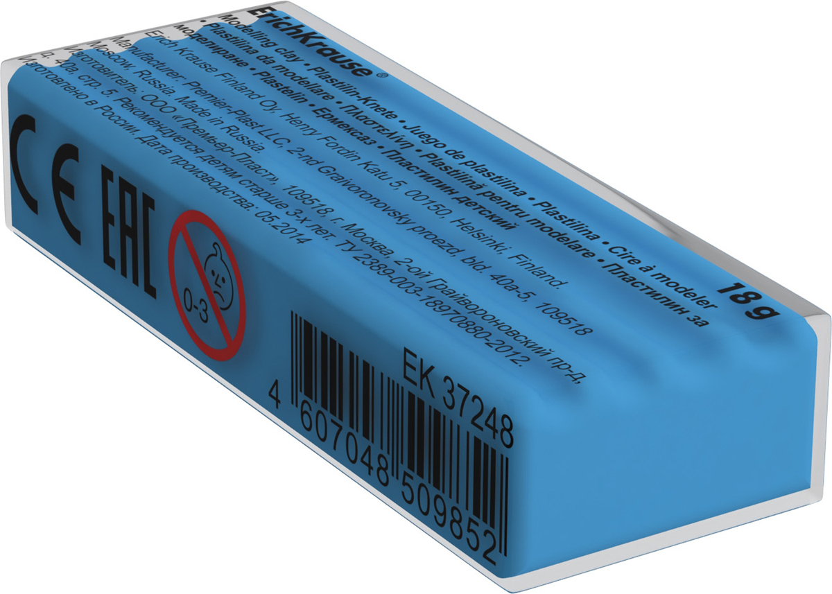 Erich Krause Пластилин цвет голубой анна игнатова вектор пластилина