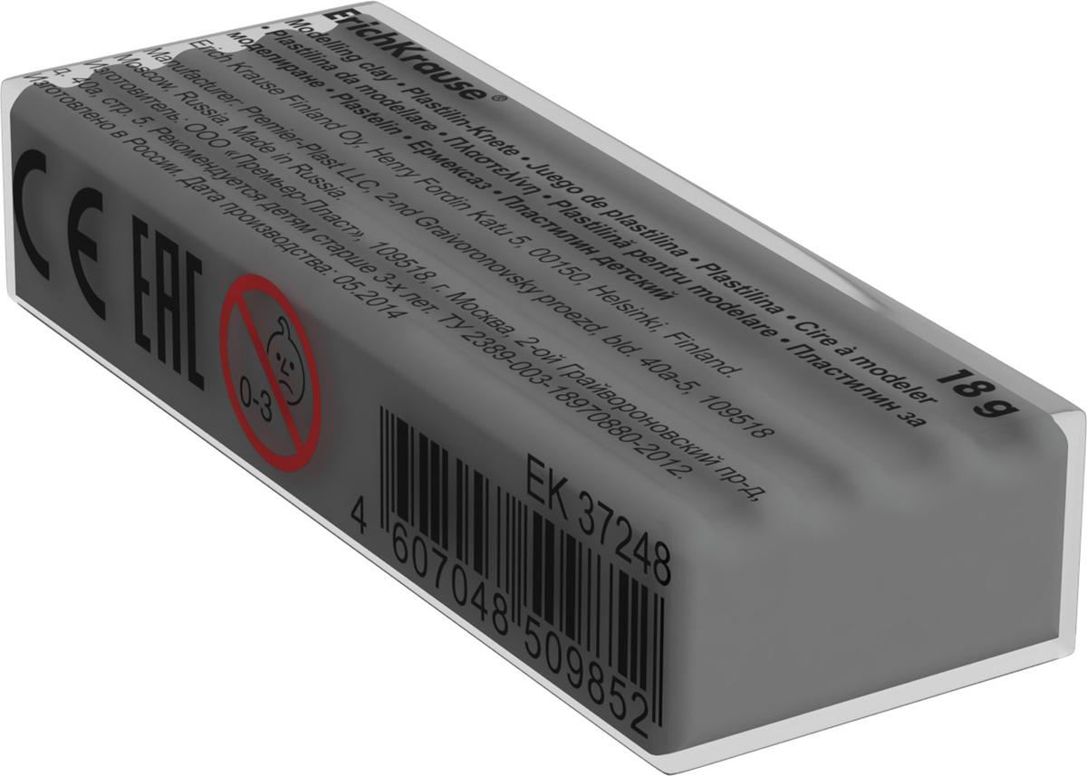 Erich Krause Пластилин цвет серый37265Классический школьный пластилин производится на основе безопасных компонентов. Сохраняет свою форму, не застывает на воздухе. Цветовая палитра содержит яркие, насыщенные цвета, которые хорошо смешиваются между собой. Разноцветные брусочки классического пластилина весом 18г имеют индивидуальную упаковку со штрихкодом. Теперь можно приобрести столько пластилина нужного цвета, сколько необходимо для осуществления любой творческой задумки.