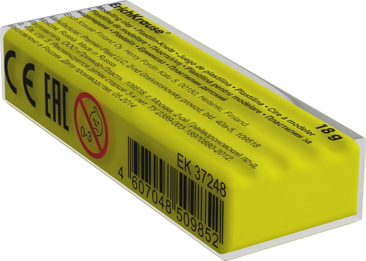 Erich Krause Пластилин цвет ярко-желтый37266Классический школьный пластилин производится на основе безопасных компонентов. Сохраняет свою форму, не застывает на воздухе. Цветовая палитра содержит яркие, насыщенные цвета, которые хорошо смешиваются между собой. Разноцветные брусочки классиче ского пластилина весом 18г имеют индивидуальную упаковку со штрихкодом. Теперь можно приобрести столько пластилина нужного цвета, сколько необходимо для осуществления любой творческой задумки.