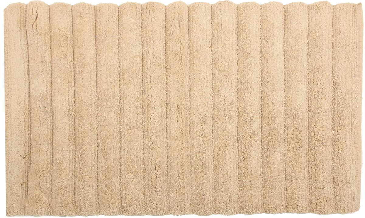"""Самотканый коврик для ванной """"Arloni"""", выполненный из 100% хлопка, декорирован симпатичным принтом. Коврик долго прослужит в вашем доме, добавляя тепло и уют, а также внесет неповторимый колорит в интерьер ванной комнаты.  Предназначен для использования в ванной в гигиенических целях и для обеспечения безопасности. Коврик предотвращает возможность травм при падении на скользкой поверхности."""