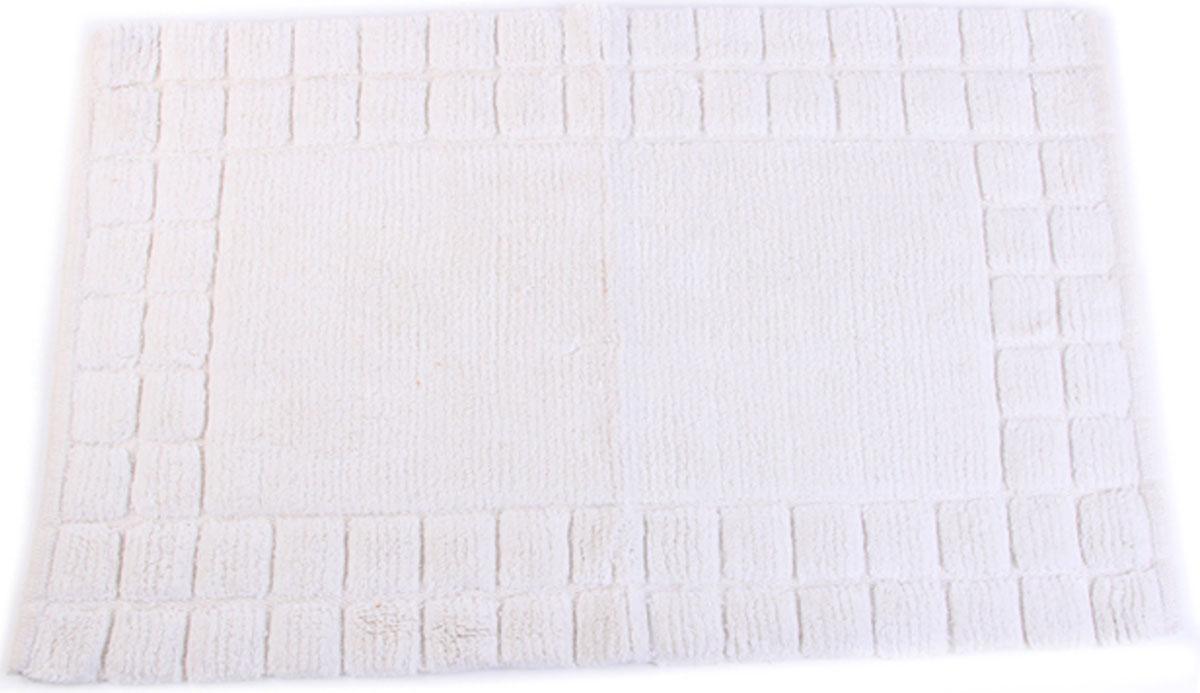 Коврик для ванной Arloni, самотканый, цвет: белый, 50 x 80 см. 204/1ARL204/1ARL
