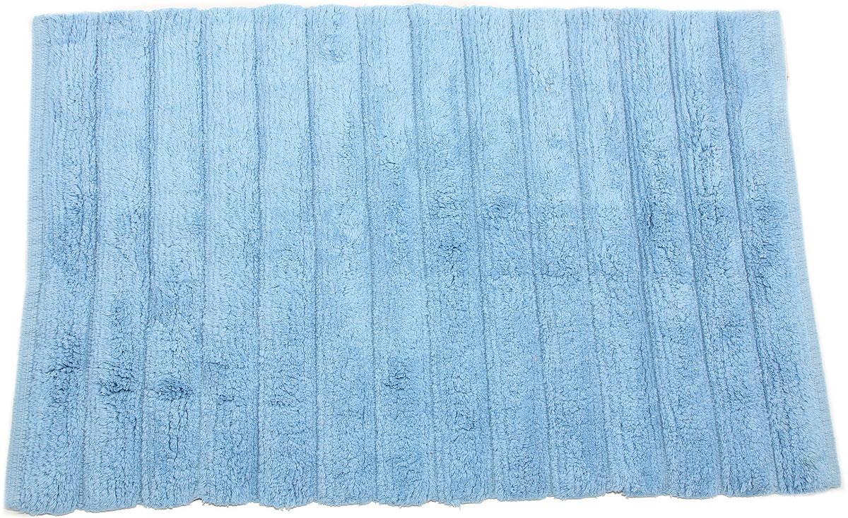 Коврик для ванной Arloni, самотканый, цвет: голубой, 50 x 80 см. 202/3ARL