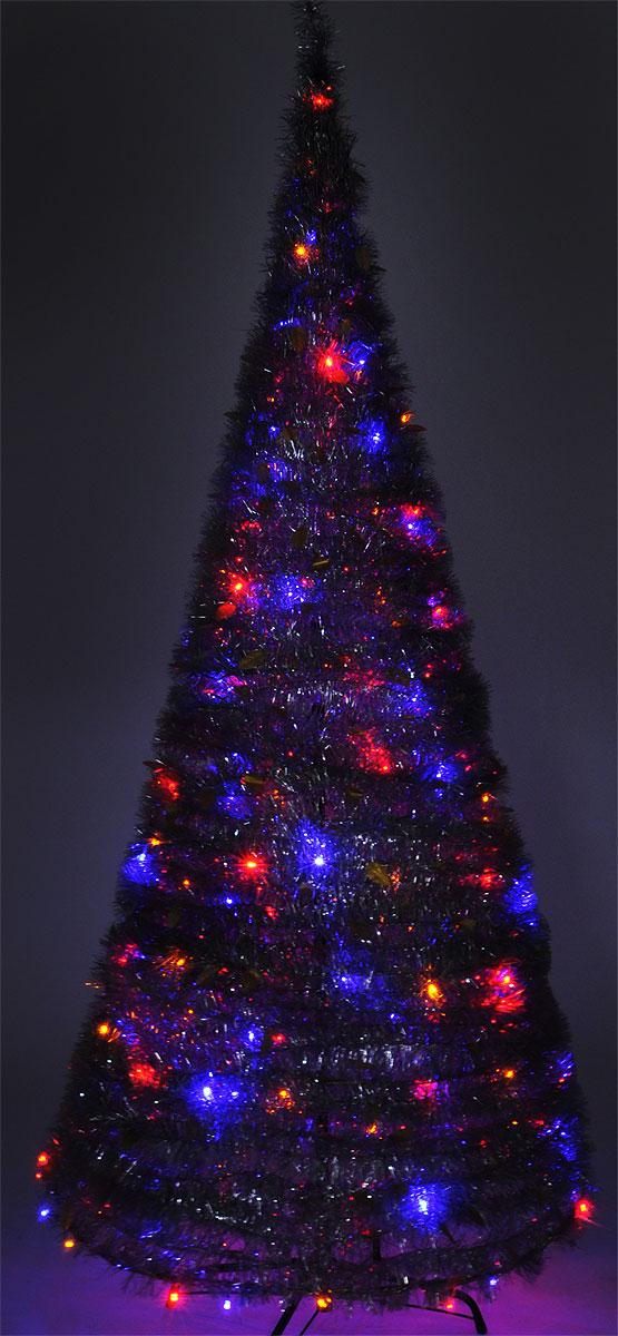 B&H Светодиодная Елка из мишуры с листьями, цвет свечения: мультицвет, 200 LED, 8 режимов, высота: 2,1 мBH0622-SСветодиодная Елка из мишуры применяется для украшения помещений, витрин и других объектов. Используется внутри помещений. Высота фигуры: 2,1 м.Цвет свечения: мультицвет.Цвет елки: серебряный