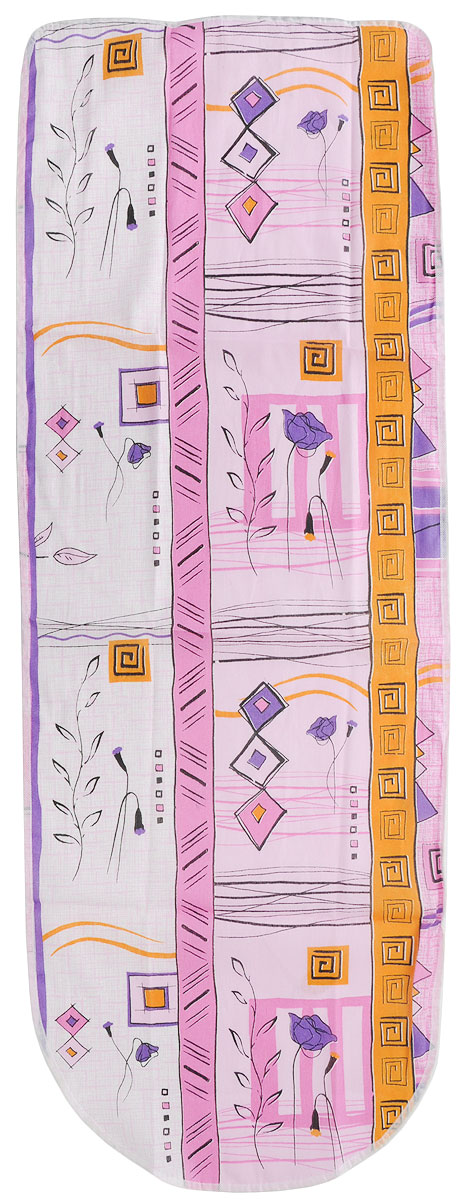 Чехол для гладильной доски Detalle, универсальный, цвет: розовый, фиолетовый, желтый, 125 х 47 см. Е1301Е1301_розовый, фиолетовая розаЧехол для гладильной доски Detalle, выполненный из хлопка с подкладкой из мягкого войлокообразного полотна (ПЭФ), предназначен для защиты или замены изношенного покрытия гладильной доски. Чехол снабжен стягивающим шнуром, при помощи которого вы легко отрегулируете оптимальное натяжение чехла и зафиксируете его на рабочей поверхности гладильной доски. Из войлокообразного полотна вы можете вырезать подкладку любого размера, подходящую именно для вашей доски.Этот качественный чехол обеспечит вам легкое глажение. Он предотвратит образование блеска и отпечатков металлической сетки гладильной доски на одежде. Войлокообразное полотно практично и долговечно в использовании.Размер чехла: 125 см x 47 см. Максимальный размер доски: 120 см х 42 см. Размер войлочного полотна: 130 см х 52 см.