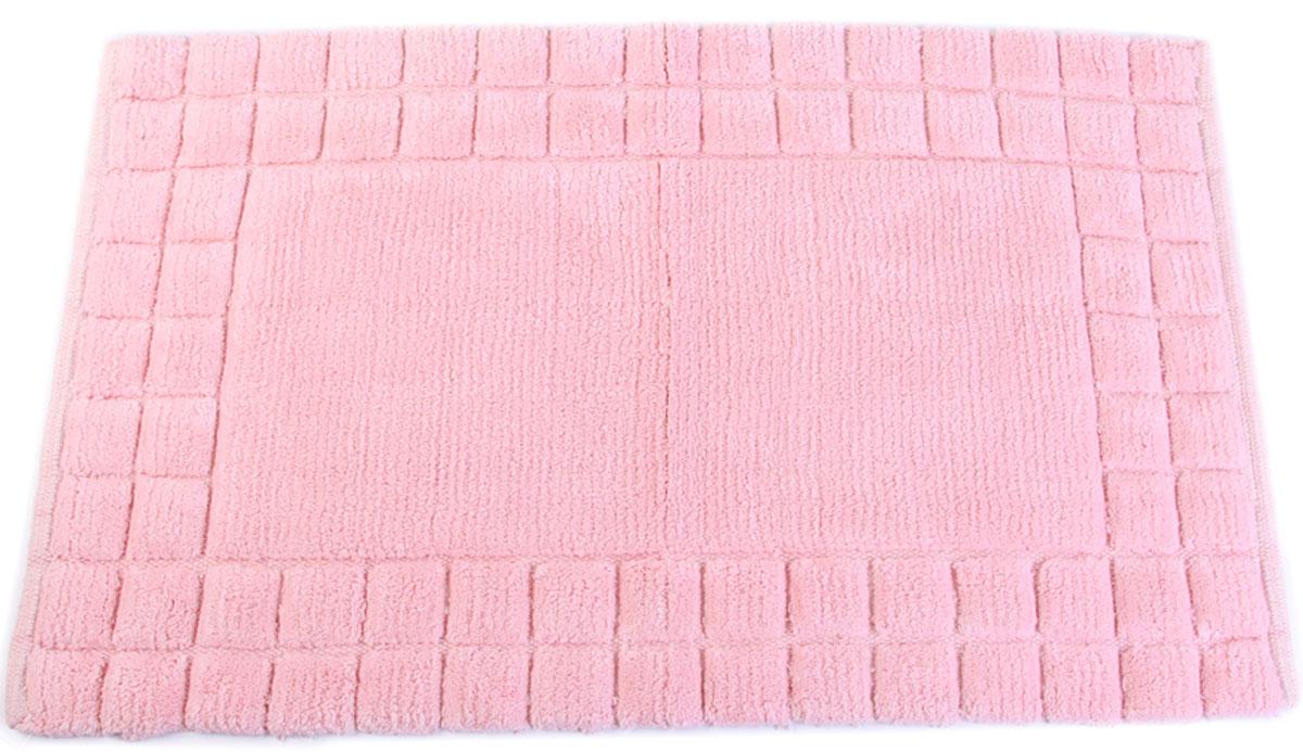 Коврик для ванной Arloni, самотканый, цвет: розовый, 50 x 80 см. 204/5ARL204/5ARL