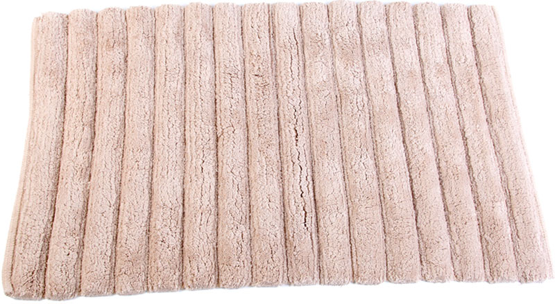 """Самотканый коврик для ванной """"Arloni"""", выполненный из 100% хлопка, декорирован принтом """"в полоску"""". Коврик долго прослужит в вашем доме, добавляя тепло и уют, а также внесет неповторимый колорит в интерьер ванной комнаты.  Предназначен для использования в ванной в гигиенических целях и для обеспечения безопасности. Коврик предотвращает возможность травм при падении на скользкой поверхности."""