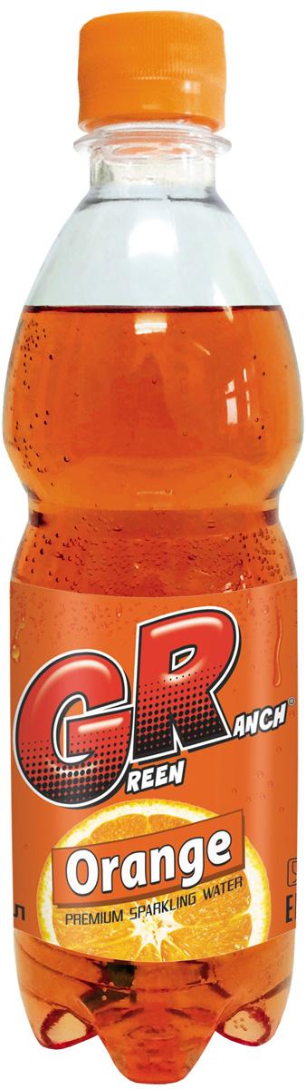 Green Ranch газированный напиток на сахаре Орандж, 1 л