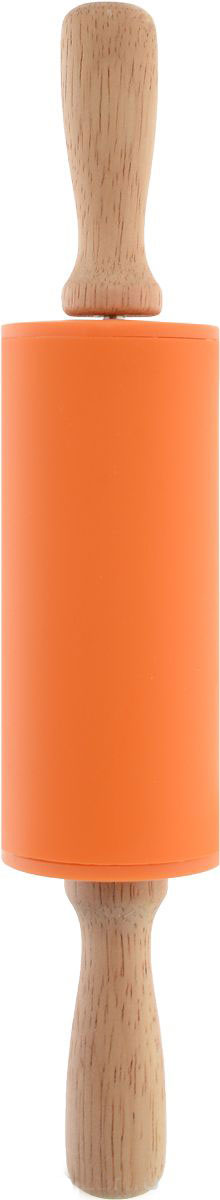 Скалка Доляна Валенсия , цвет: оранжевый, 30 х 4 см851318_оранжевыйСкалка — необходимый на кухне предмет. Изделие из силикона представляет собой усовершенствованную версию привычного инструмента. Яркий дизайн делает предмет украшением арсенала каждого повара. Готовку облегчают удобные ручки.