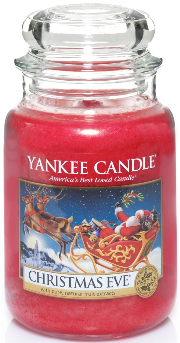 Свеча ароматизированная Yankee Candle Christmas eve, высота 16,8 см1199601EChristmas Eve - аромат настоящего вечера накануне Рождества.Верхняя нота: Апельсин, Миндаль, Лайм, Лимон.Средняя нота: Ягоды, Корица, Мускатный Орех.Базовая нота: Фиалка, Амбра, Кремовое Пралине, Ваниль.