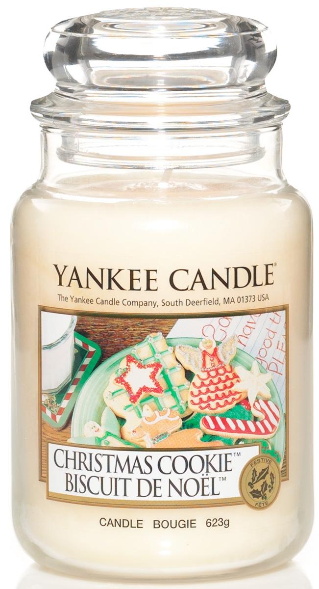 Свеча ароматизированная Yankee Candle Christmas сookie, высота 16,8 см115504EБогатый и маслянистый аромат душистой ванили это праздничное сахарное печенье. Верхняя нота: Сливочная Ваниль Средняя нота: Мускатный Орех, Корица, Сахар Базовая нота: Ваниль, Масло, Печенье