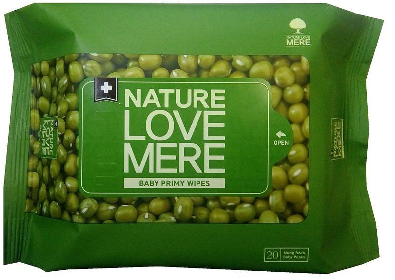 Nature Love Mere Влажные салфетки детские Mung Bean Wet Tissue 20 шт средства для стирки nature love mere мыло для стирки с антибактериальным эфектом nature love mere 200 гр