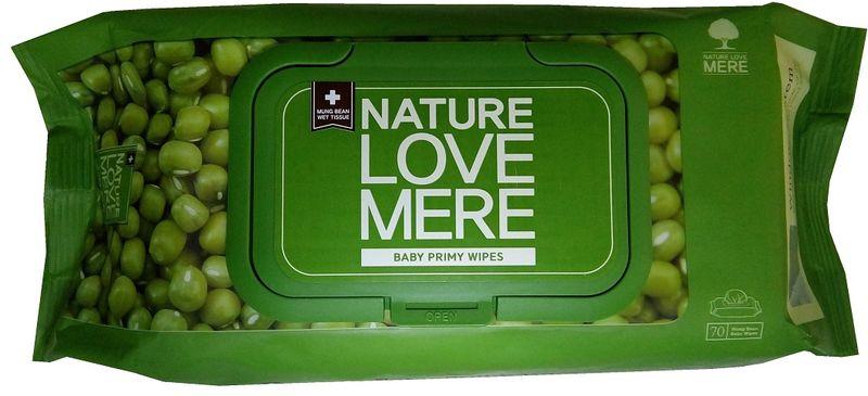 Nature Love Mere Влажные салфетки детские Mung Bean Wet Tissue 70 шт средства для стирки nature love mere мыло для стирки с антибактериальным эфектом nature love mere 200 гр