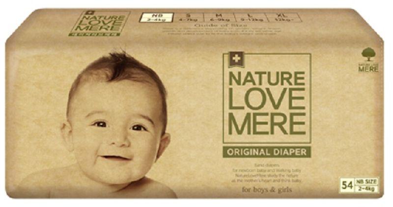 Nature Love Mere Подгузники Original Basic от 2 кг 54 шт паштет grand mere печеночный с грибами