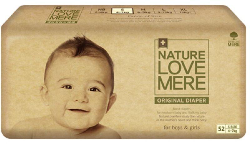 Nature Love Mere Подгузники Original Basic от 4 кг 52 шт паштет grand mere печеночный с грибами