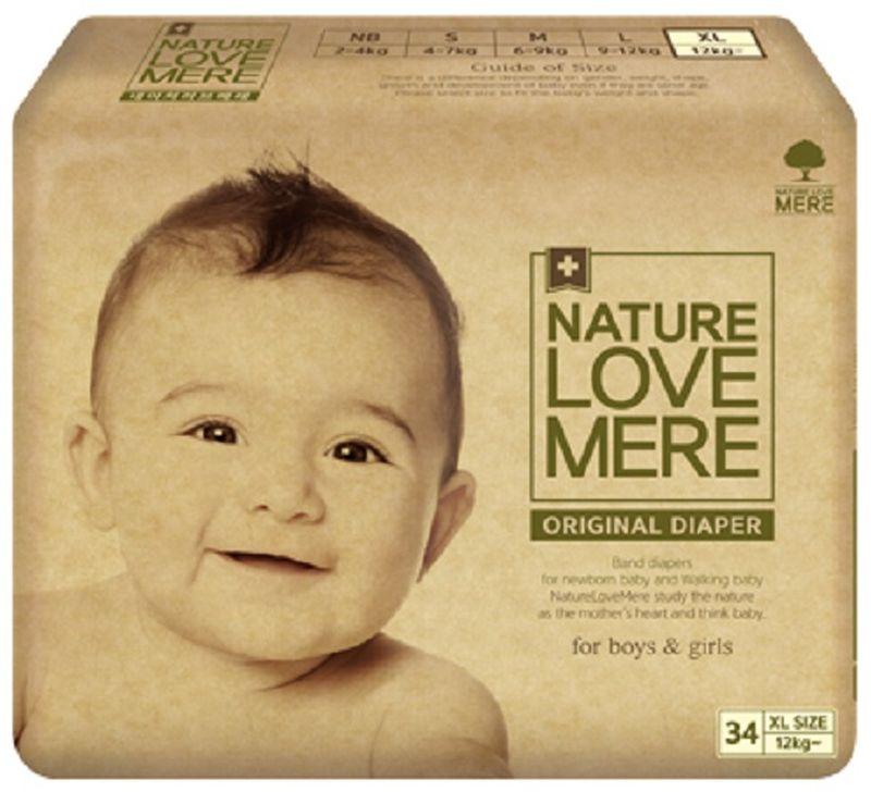 Nature Love Mere Подгузники Original Basic от 12 кг 34 шт средства для стирки nature love mere мыло для стирки с антибактериальным эфектом nature love mere 200 гр