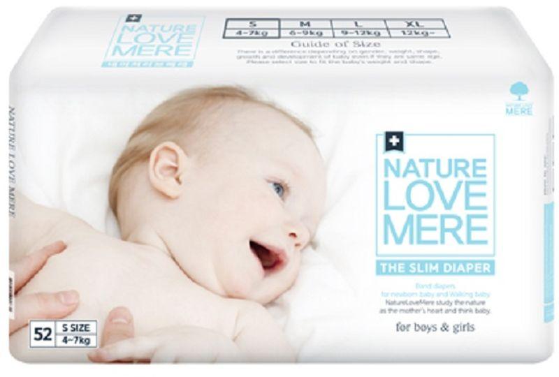 Nature Love Mere Подгузники Slim Premium от 4 кг 52 шт средства для стирки nature love mere мыло для стирки с антибактериальным эфектом nature love mere 200 гр