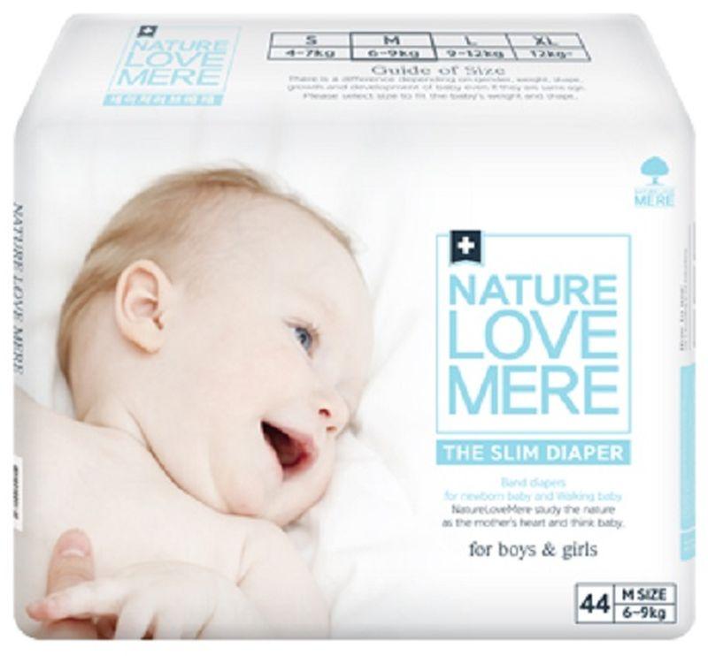 Nature Love Mere Подгузники Slim Premium от 6 кг 44 шт средства для стирки nature love mere мыло для стирки с антибактериальным эфектом nature love mere 200 гр
