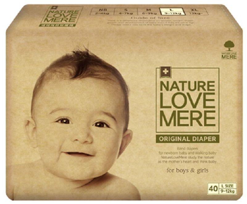 Nature Love Mere Подгузники Original Basic от 9 кг 40 шт паштет grand mere печеночный с грибами
