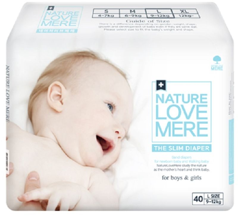 Nature Love Mere Подгузники Slim Premium от 9 кг 40 шт средства для стирки nature love mere мыло для стирки с антибактериальным эфектом nature love mere 200 гр