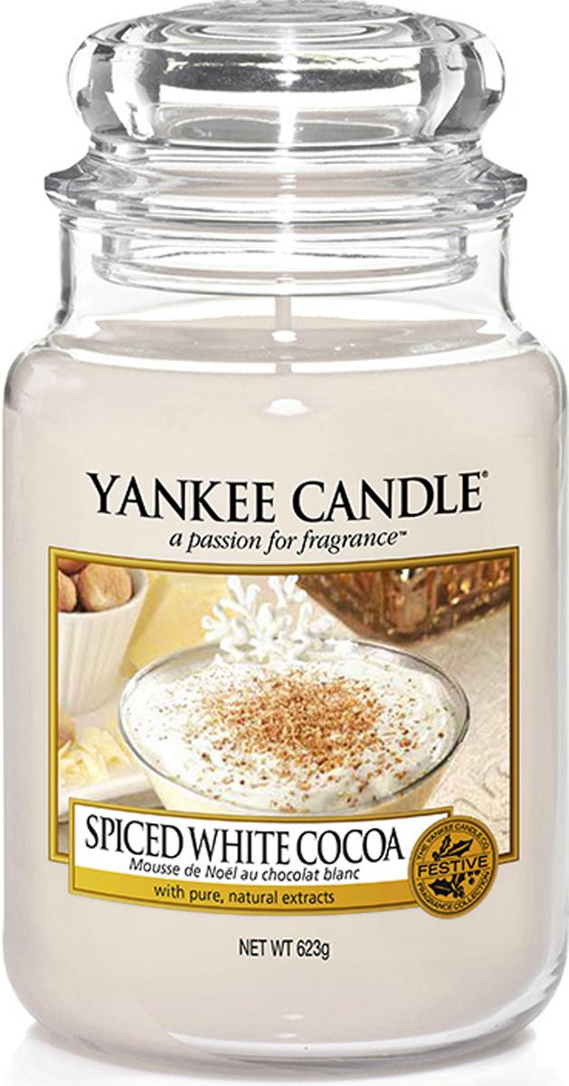 Свеча ароматизированная Yankee Candle Spiced white сocoa, высота 16,8 см свеча ароматизированная bolsius ландыш высота 6 3 см