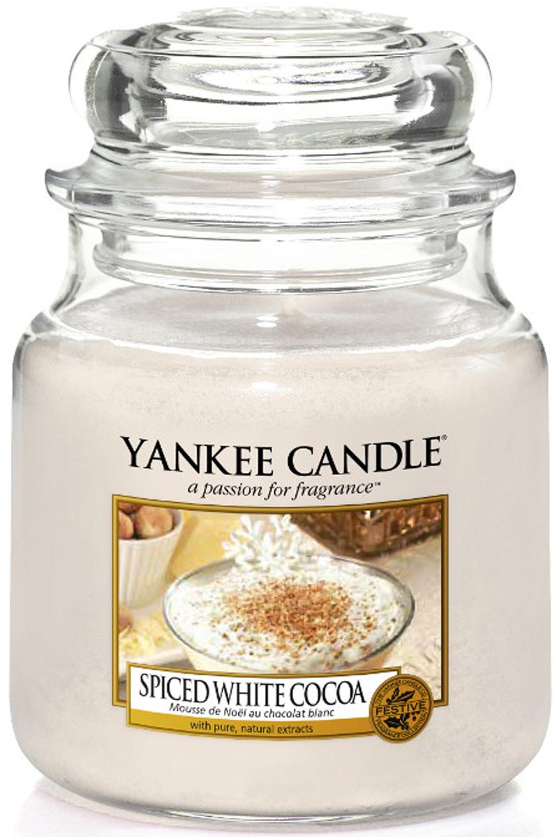 Свеча ароматизированная Yankee Candle Spiced white cocoa, высота 12,7 см1513570EТеплое и восхитительное какао, покрытое слоем взбитых сливок и посыпанное мускатным орехомВерхняя нота: Белое какао Средняя нота: Соленая Карамель, Сладкий крем, Мускатный орех Базовая нота: Ири?с