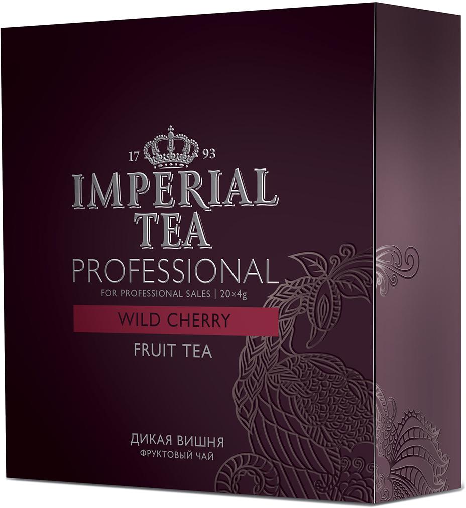 Императорский чай Professional Дикая вишня, 20 шт73-55Легкий дневной чай, который дарит ощущение солнечного лета. Благодаря неожиданному сочетанию терпкости цветков каркадэ и пряного шиповника с нотками вишеневого аромата напиток придаст борости в жаркий день. Этот чай, отлично подойдет как для праздничных посиделок в кругу семьи, так и для подачи в ресторанах самым требовательным клиентам, ведь чай – удовольствие, доступное каждому!Всё о чае: сорта, факты, советы по выбору и употреблению. Статья OZON Гид