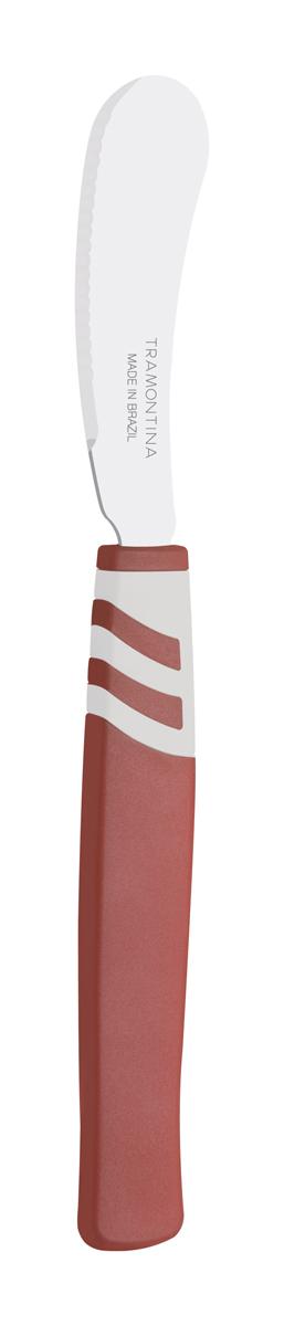 Благодаря уникальному методу закалки в несколько этапов: - термическая закалка от + 850°C до + 1 060°C;  - охлаждение системой вентиляции до +350°C;  - промораживание при -80°C в течение 30 минут;  - нагревание газом от +250°C до +310°C  сталь приобретает особую пластичность, коррозийно и жаростойкость, сохраняя твердость порядка 53 единиц по шкале Роквелла. Как результат, ножи TRAMONTINA требуют более редкой правки и заточки, что обеспечивает более долгий срок службы по сравнению с ножами из аналогичной стали других производителей.   Рукоятки серии Amalfi выполнены из полипропилена, долговечны, выдерживают температуру до 130°C.   Гарантия от производственного брака на ножи серии Amalfi 3 года!  Материал лезвия: нержавеющая сталь AISI 420 Материал рукоятки: полипропилен Длина лезвия: 7,5 см Количество ножей: 2 шт Страна производства: Бразилия