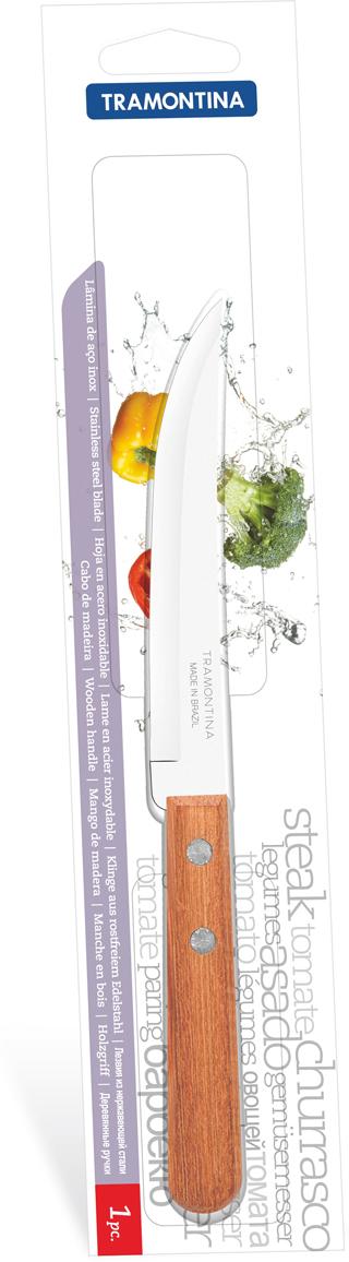 Нож для мяса Tramontina Dynamic, длина лезвия 12,5 см22321/705-TRБлагодаря уникальному методу закалки в несколько этапов:- термическая закалка от + 850°C до + 1 060°C; - охлаждение системой вентиляции до +350°C; - промораживание при -80°C в течение 30 минут; - нагревание газом от +250°C до +310°C сталь приобретает особую пластичность, коррозийно и жаростойкость, сохраняя твердость порядка 53 единиц по шкале Роквелла. Как результат, ножи TRAMONTINA требуют более редкой правки и заточки, что обеспечивает более долгий срок службы по сравнению с ножами из аналогичной стали других производителей. Рукоятки серии Dynamic выполнены из натурального дерева. Гарантия от производственного брака на ножи серии Dynamic 3 года!Материал лезвия: нержавеющая сталь AISI 420Материал рукоятки: деревоДлина лезвия: 12,5 смСтрана производства: Бразилия