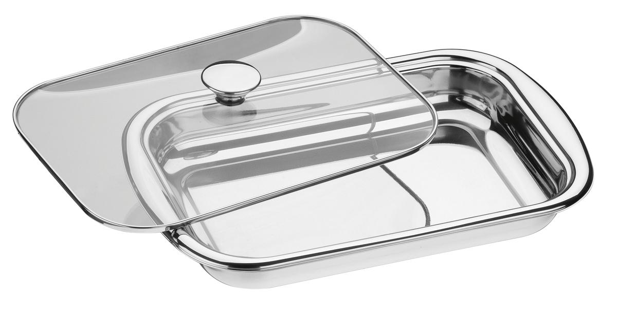 Форма для запекания Tramontina, с крышкой, прямоугольная, 38,5 х 25,2 х 9 см61315/394-TRФорма для запекания Tramontina изготовлена из высококачественной особо прочнойнержавеющей стали 18/10, прочное и устойчивое к деформации. В посуде из такой сталиможно хранить и готовить любые продукты, в том числе содержащие щелочи и кислоты, таккак она не вступает в контакт с пищей, не изменяет ее вкус, запах и цвет.Стильный дизайн с зеркальной придающей изысканность полировкой позволяетэффектно подать блюдо к столу.Для изготовления крышек используется самый качественный материал – огнеупорноестекло с повышенной сопротивляемостью к механическим воздействиям. Можно небеспокоиться о том, что крышка неожиданно лопнет, кроме того, она с легкостьювыдерживает падение с полутораметровой высоты на жесткий пол. Модель имеет небольшие выемки по бокам для удобства переноски.При производстве особое внимание уделяется окончательной обработке, чтопредохраняет от риска пораниться о края изделия.Подходит для запекания, подачи и хранения. Яркая индивидуальная упаковка. Можно мыть в посудомоечной машине.