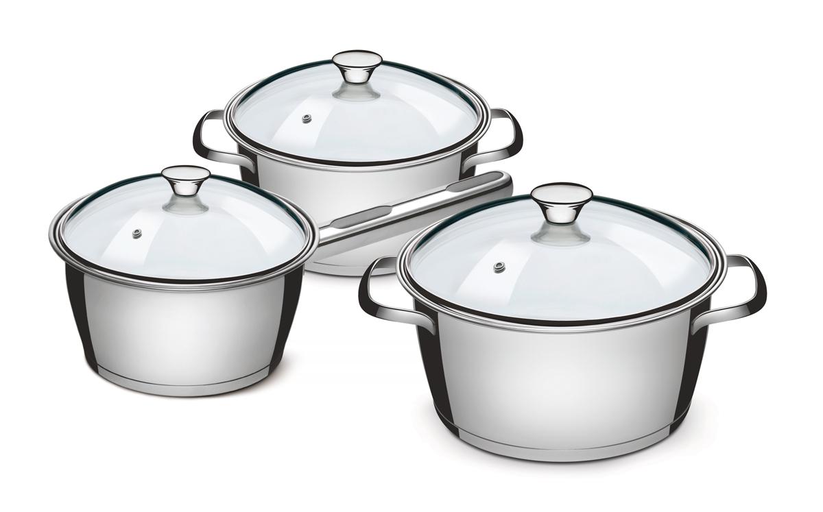 """Tramontina """"Allegra"""" отличается практичностью и надежностью в каждой детали. Это посуда, в которой нет ничего лишнего, увеличивающего стоимость, и которая идеально подходит для каждодневного приготовления пищи в течение долгого времени.  Корпус изделий, входящих в коллекцию, выполнен высококачественной хром-никелевой аустенитной нержавеющей стали с низким содержанием углерода, обладающей высокими эксплуатационными характеристиками – она устойчива к агрессивным пищевым кислотам и щелочам и не вступает в реакцию пищей.  Толщина стенок корпуса составляет 0,5 мм, что соответствует российским и европейским нормам. Качество стали гарантирует максимальную безопасность посуды, как в процессе приготовления, так и в процессе хранения продуктов. Для изготовления крышек используется самый качественный материал – огнеупорное стекло с повышенной сопротивляемостью к механическим воздействиям. Можно не беспокоиться о том, что крышка неожиданно лопнет (как часто бывает с недорогой посудой китайского производства), кроме того, она с легкостью выдерживает падение с полутораметровой высоты на жесткий пол. Удобные ручки из нержавеющей стали с креплением на точечной сварке, что гарантирует простоту в уходе и гигиеничность. Посуду с ручками на точечной сварке удобно мыть как вручную, так и в посудомоечной машине, не боясь, что агрессивные моющие средства во взаимодействии с алюминием образуют налет, как это бывает иногда с посудой, ручки которой имеют клепочное крепление. Дно посуды - трехслойное, с теплораспределительным слоем из алюминия, производится с использованием технологии Impact, благодаря которой алюминий под давлением пресса с усилием в 3000 тонны заполняет целиком всю капсулу дна, создавая единое целое корпус-алюминиевый диск-дно. Отсутствие пустот благоприятно сказывается на теплораспределительных свойствах дна и гарантирует долгий срок службы.  - Общая толщина дна: до 5,1 мм - Толщина теплораспределительного слоя: до 4 мм - Толщина стенок: 0,5 мм - Толщина дна из нержавеющей"""